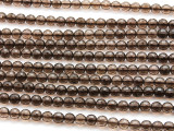 Smoky Quartz Faceted Round Gemstone Beads 6mm (GS4480)