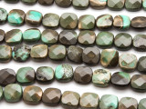 Chrysoprase Faceted Square Tabular Gemstone Beads 12mm (GS4484)