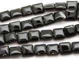 Black Agate Square Gemstone Beads 14mm (GS4494)