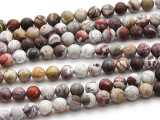 Matte Laguna Lace Agate Round Gemstone Beads 8mm (GS4495)