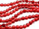 Red Magnesite Heart Gemstone Beads 12mm (GS4501)