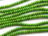 Green Magnesite Saucer Gemstone Beads 6mm (GS4517)