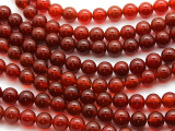 Red Agate Round Gemstone Beads 8mm (GS4525)