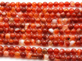 Carnelian Agate Faceted Gemstone Beads 6mm (GS4526)