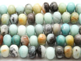 Black Gold Amazonite Rondelle Gemstone Beads 14mm (GS4530)