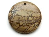 Red Creek Jasper Gemstone Pendant 40mm (GSP2028)