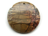Red Creek Jasper Gemstone Pendant 40mm (GSP2029)