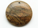 Red Creek Jasper Gemstone Pendant 40mm (GSP2033)