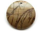 Red Creek Jasper Gemstone Pendant 40mm (GSP2035)