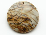 Red Creek Jasper Gemstone Pendant 40mm (GSP2036)