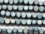 Denim Blue Tabular Wood Beads 10mm - Indonesia (WD957)