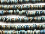 Denim Blue Coconut Wood Rondelle Beads 8mm - Indonesia (WD968)