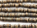Warm Gray Coconut Wood Rondelle Beads 8mm - Indonesia (WD971)