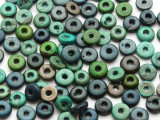 Assorted Coconut Wood Rondelle Beads 8mm - Indonesia (WD972)