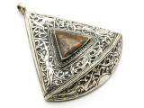 Afghan Tribal Silver Pendant - Ornate 67mm (AF645)