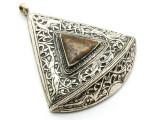 Afghan Tribal Silver Pendant - Ornate 67mm (AF645)