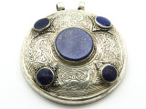Afghan Tribal Silver Pendant - Ornate 60mm (AF647)