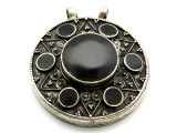 Afghan Tribal Silver Pendant - Ornate 52mm (AF648)