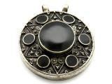 Afghan Tribal Silver Pendant - Ornate 52mm (AF648)