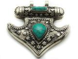 Afghan Tribal Silver Pendant - Ornate 61mm (AF650)
