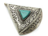 Afghan Tribal Silver Pendant - Ornate 67mm (AF651)