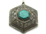 Afghan Tribal Silver Pendant - Ornate 60mm (AF652)
