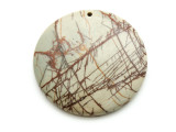Red Creek Jasper Round Pendant 50mm (GSP2125)
