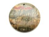 Red Creek Jasper Round Pendant 50mm (GSP2129)