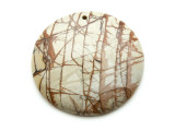 Red Creek Jasper Round Pendant 50mm (GSP2137)