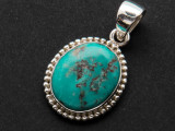 Sterling Silver & Turquoise Pendant 20mm (AP2001)