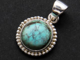 Sterling Silver & Turquoise Pendant 18mm (AP2003)