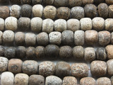 "Stegodon Mammoth Fossilized Bone Beads 10-15mm - 11"" Strand (RF830)"