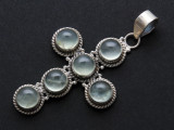 Sterling Silver & Moonstone Pendant 51mm (AP2017)