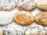 Crazy Lace Agate Oval Tabular Gemstone Beads 30mm (GS4534)