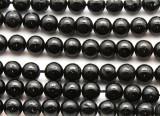 Black Tourmaline Round Gemstone Beads 8mm (GS4540)