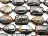 Tiger Iron Assorted Tabular Gemstone Beads 25mm (GS4554)