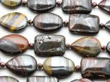 Tiger Iron Assorted Tabular Gemstone Beads 25mm (GS4554)