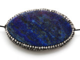 Lapis Lazuli Lg Focal Bead w/Rhinestones 57mm (GSP2076)