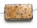 Coral Agate Lg Focal Bead w/Rhinestones 54mm (GSP2099)