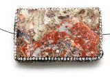 Rhyolite Lg Focal Bead w/Rhinestones 62mm (GSP2120)