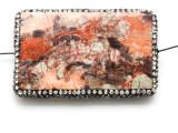 Rhyolite Lg Focal Bead w/Rhinestones 63mm (GSP2121)