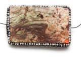 Rhyolite Lg Focal Bead w/Rhinestones 63mm (GSP2122)