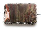 Rhyolite Lg Focal Bead w/Rhinestones 63mm (GSP2124)