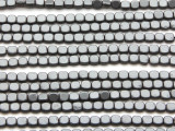 Gunmetal Gray Electroplated Hematite Square Gemstone Beads 4mm (GS4562)