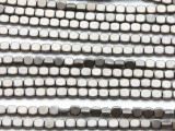 Antique Silver Electroplated Hematite Square Gemstone Beads 4mm (GS4568)