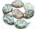 Blue Mushroom Rhyolite Tabular Gemstone Beads 54mm (GS4601)