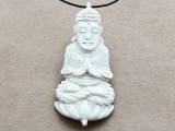 Seated Buddha Water Buffalo Horn Pendant 66mm (AP2020)