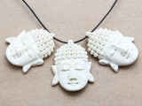 Buddha Water Buffalo Horn Pendant 37mm (AP2025)
