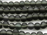 Black Round Recycled Glass Beads 9-13mm - Indonesia (RG624)