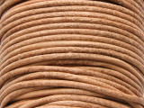 "Natural Tan Leather Cord 2mm - 36"" (LR89)"